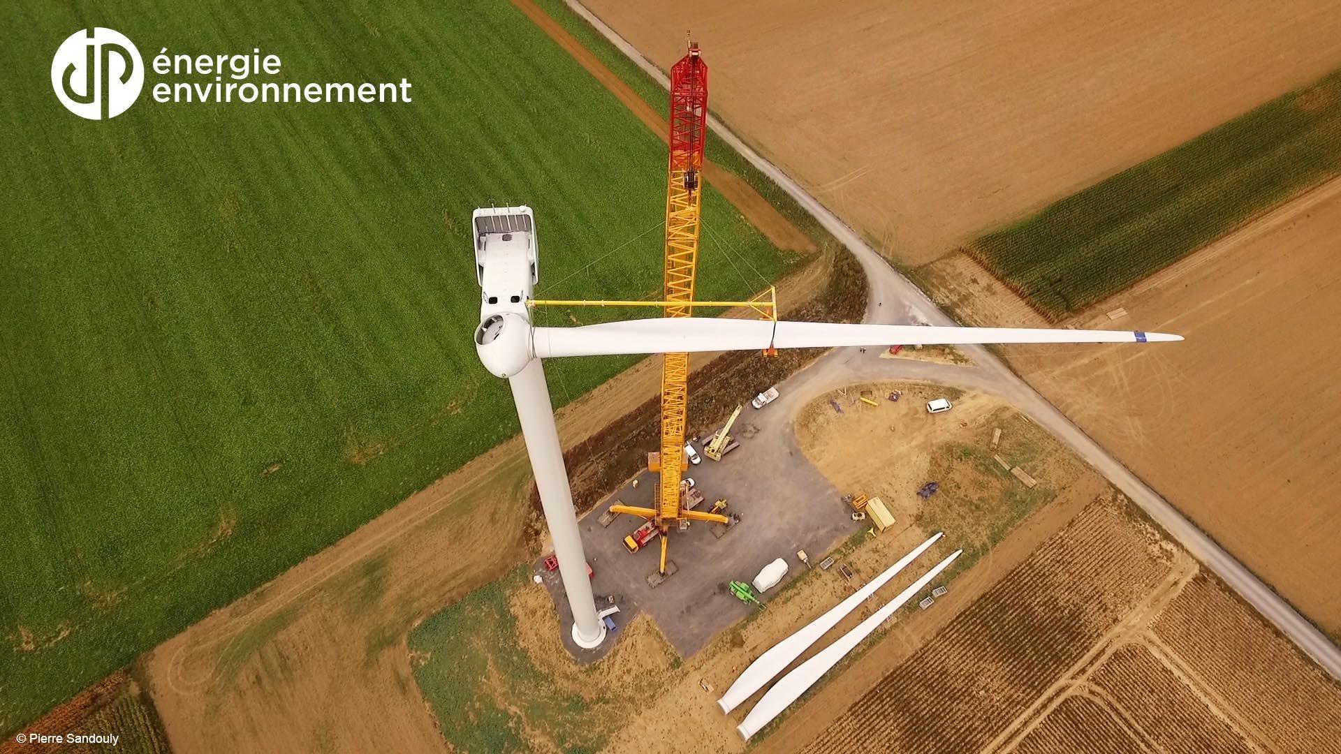 Parcs éoliens et centrales solaires réalisés par l'entreprise normande JPee