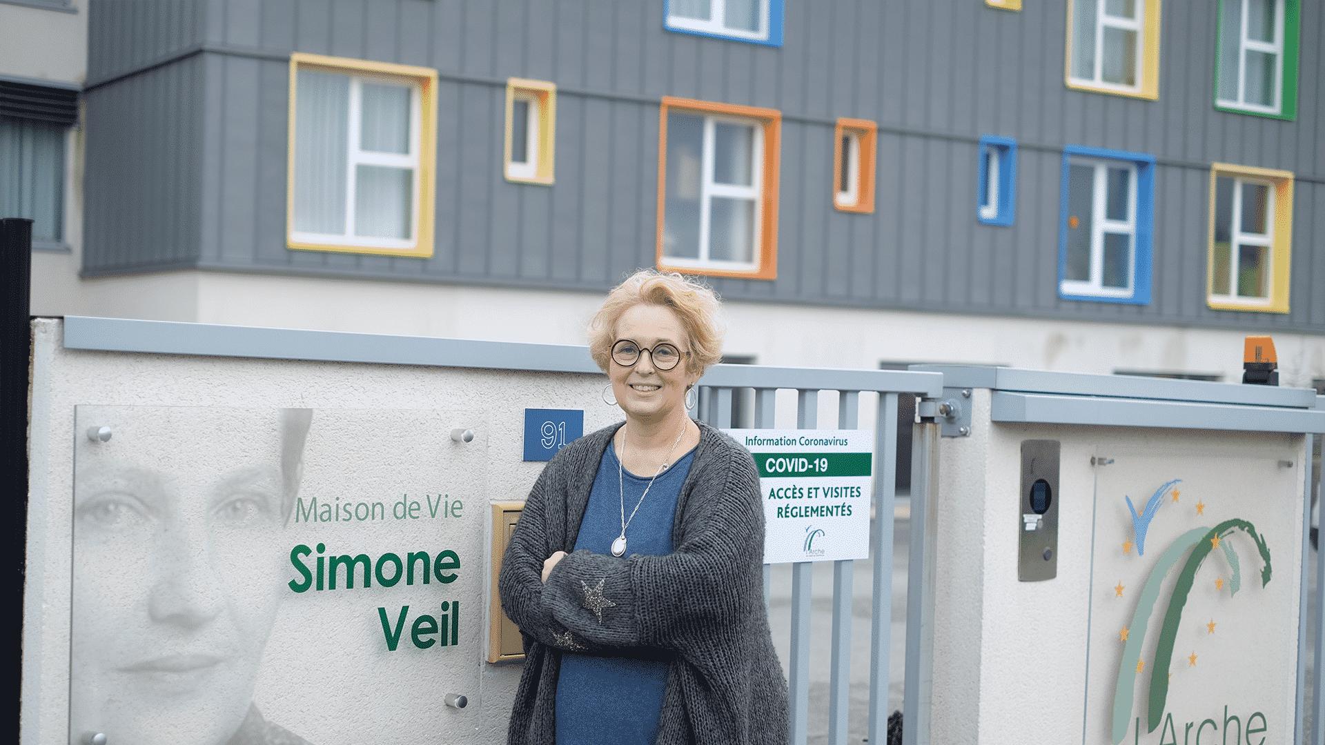 Corinne Courtel, directrice du Foyer de vie Simone Veil, à Verneuil-sur- Avre.